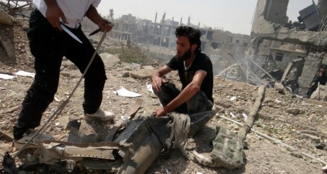 Des soldats de l'Armée libre syrienne, Deir al-Zor, 2 septembre 2013 / Reuters