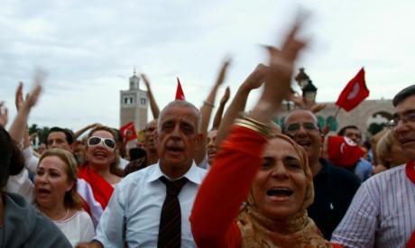 Manifestation contre le gouvernement Ennahda, 31 août 2013, Tunis. REUTERS/Anis Mili(