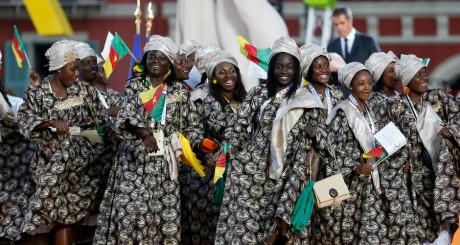 Une délégation camerounaise à l'ouverture des Jeux de Nice, 7 septembre 2013 / AFP