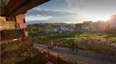 """Capture d'écran du Webdocumentaire """"Algérie, un transit vers nulle part"""", réalisé par Médecin du monde."""