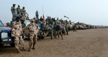 Soldats tchadiens à Kidal, 7 février 2013 / REUTERS