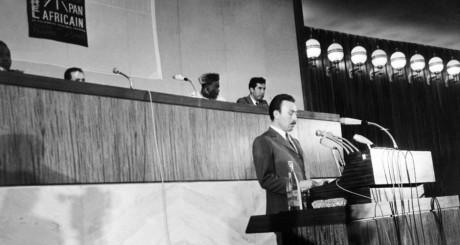 Houari Boumedienne prononçant un discours à Alger, juillet 1969 / AFP
