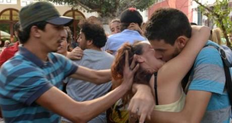 Kiss-in à Rabat © FocusElles.com