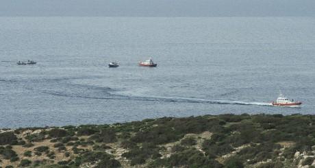 Navires de garde-côtes italiens au large de Lampedusa / Reuters