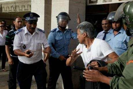 Manifestation devant le Parlement, le 22 août 2012, à Rabat. REUTERS/Stringer