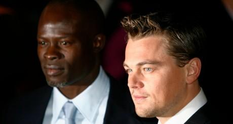Djimon Hounsou et Leonardo Di Caprio, Leicester, juin 2007 / Reuters