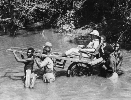 Un colon européen au Sénégal,1930. AFP