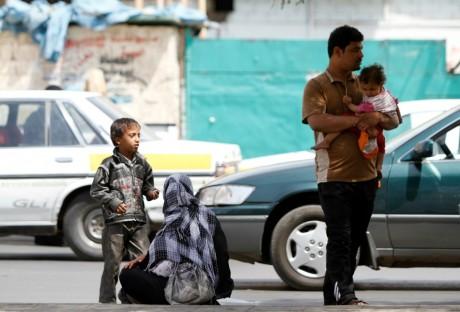 Réfugiés syriens, à Sanaa au Yémen, le 26 septembre 2013. REUTERS/Mohamed al-Sayaghi