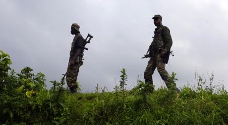 Les FARDC avancent vers les positions du M23 à Runyoni au nord de Goma, en novembre 2013. Reuters / Stringer.