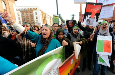 Non aux violences contre les femmes, Rabat, 8 décembre 2012. REUTERS/Stringer