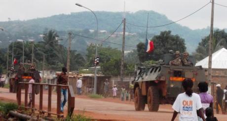 Une patrouille de soladats français à Bangui, août 2013 / AFP
