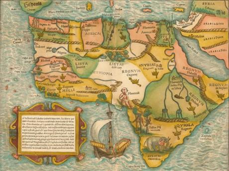 La carte de l'Afrique par Sebastian Munster. 1554