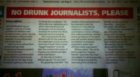 L'article du quotidien sud-africain The Star