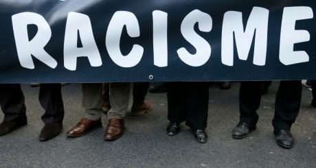 Banderole déployée lors d'une manifestation contre le racisme, Pari, novembre 2013 / Reuters
