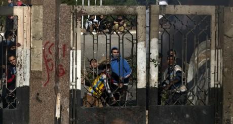 Manifestants pro-Frères musulmans, Le Caire, 27 décembre 2013 / AFP