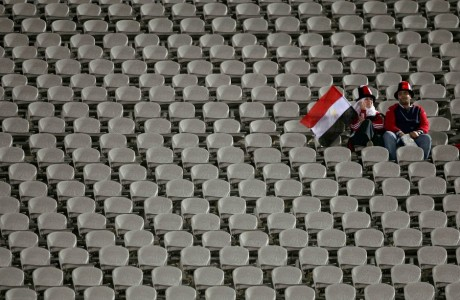 Supporters égyptiens au stade international du Caire, REUTERS / Amr Dalsh