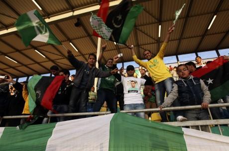 Des fans de l'Al Ahly Tripoli. REUTERS/Esam Al-Fetori