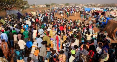 Déplacés sud-soudanais, Juba, 7 janvier 2013. REUTERS/James Akena