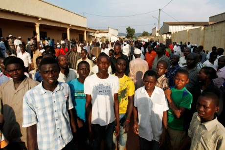 Résidents d'un quartier musulman à Bangui, REUTERS / Emmanuel Braun