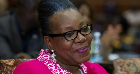 Catherine Samba-Panza, le 20 janvier 2013, à Bangui. REUTERS/Siegfried Modola