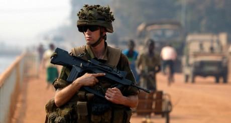 Un soldat de l'opération française Sangaris / AFP