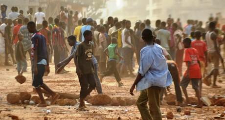 Emeutes à Conakry, Guinée, février 2014. AFP / CELLOU DIALLO