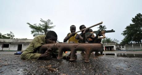Des membres de la Séléka chrétiens, à Bérengo / AFP
