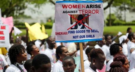 Marche de soutien aux jeunes filles enlevées par Boko Haram , Lagos, 12 mai 2014 / REUTERS