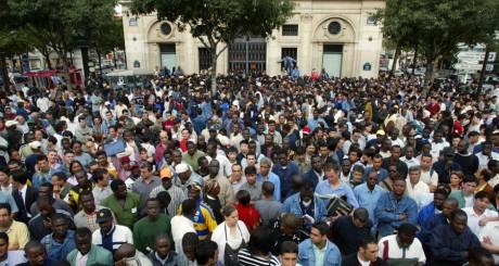 Manifestation d'immigrés, Paris / AFP