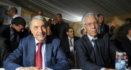 Ali Benflis et Mouloud Hamrouche, Alger, le 10 juin 2014 / AFP