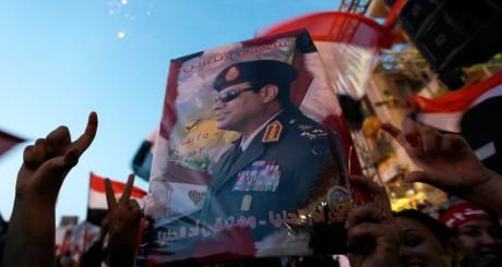 Effigie d'Abdel Fatah al-Sissi / REUTERS