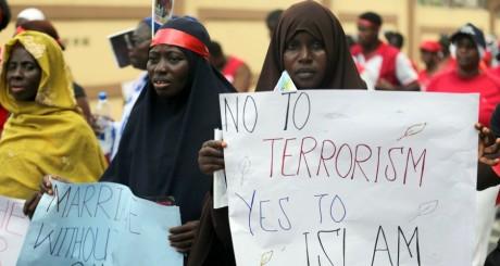 Des femmes manifestant contre Boko Haram, Lagos, mai 2014 / REUTERS