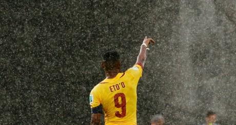 Samuel Eto'o lors du match Cameroun-Mexique, 13 juin 2014 / REUTERS