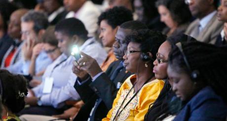 Rencontre avec la société en marge de l'US-Africa Summit, Washington, 4 août 2014 / REUTERS