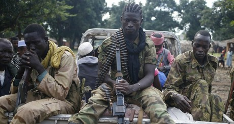 Des combattants de la Séléka, en juin 2014. REUTERS/Goran Tomasevic