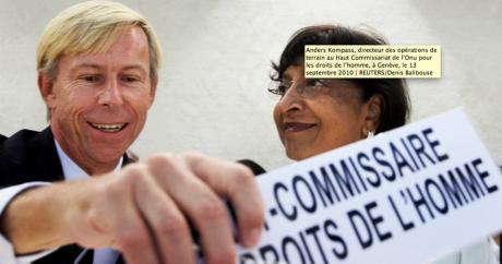 Anders Kompass, directeur des opérations de terrain au Haut Commissariat de l'Onu pour les droits de l'homme, à Genève, le 13 se