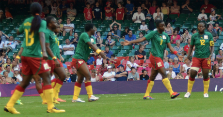 L'équipe féminine du Cameroun lors des JO 2012 à Londres. Crédit photo: Majorshots via Flickr