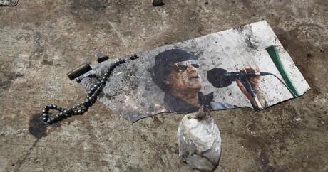 Une image de Mouammar Kadhafi. REUTERS/Zohra Bensemra