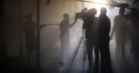 Sur le tournage du film nigérian October 1. REUTERS/Akintunde Akinleye