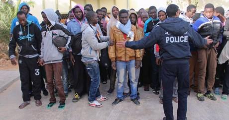 Des migrants sénégalais en Tunisie, le 26 février 2015. REUTERS/Stringer
