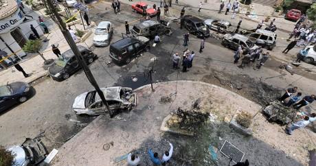 Le lieu de l'attentat au Caire. REUTERS/Mohamed Abd El Ghany