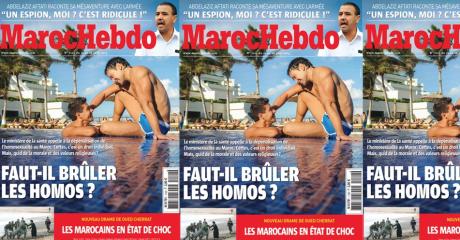 Montage Slate avec la une de Maroc Hebdo