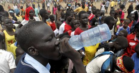 Un camp de réfugiés au Sud-Soudan, en juin 2015 (REUTERS/Thomas Mukoya)