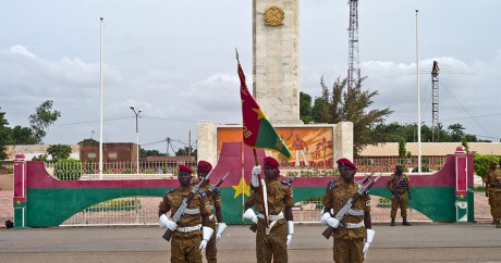 Une cérémonie pour célébrer la dissolution du RSP, le 5 octobre 2015 à Ouagadougou. Crédit photo: REUTERS/Arnaud Brunet