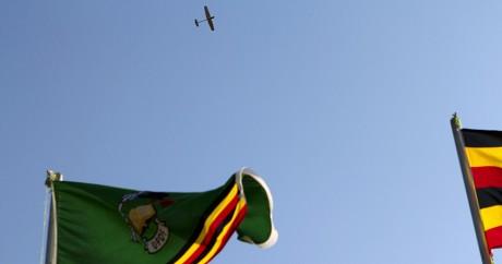 Un drone américain survole une base militaire ougandaise, en juin 2012. Photo: REUTERS/Jacquelyn Martin