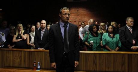 Oscar Pistorius à la cour de justice de Prétoria, le 19 février 2013. Crédit photo: REUTERS/Siphiwe Sibeko