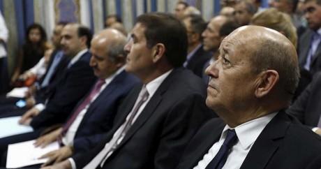 Le ministre de la Défense français, Jean-Yves le Drian, en Jordanie le 11 octobre 2015. Crédit photo: REUTERS/Muhammad Hamed