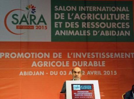Le directeur général de la FAO, José Graziano da Silva, lors du Salon de l'agriculture et des ressources animales d'Abidjan, le