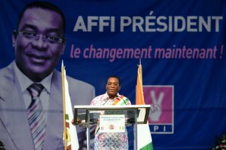Pascal Affi N'Guessan, président du principal parti d'opposition ivoirien. AFP/Archives Sia Kambou