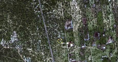 Une image satellite d'un charnier potentiel selon Amnesty International. Crédit photo: REUTERS//Amnesty International